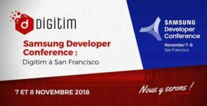 Digitim s'envole pour la Samsung Developer Conference